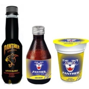 panther energy drink display