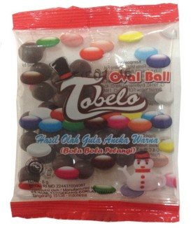 tobelo oval ball chocolate