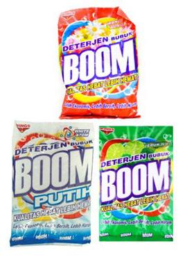 boom detergent display