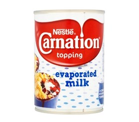carnation evaporated milk display