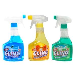 cling glass cleaner  display