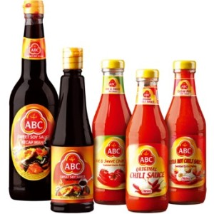 Soy sauce, chilli & ketchup