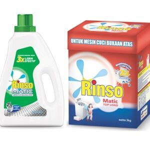 rinso matic top load display