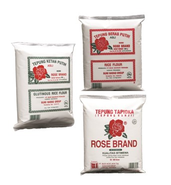 tepung rose  display